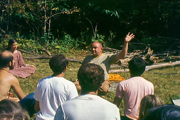 Rudi teaches a class on the hill in Big Indian